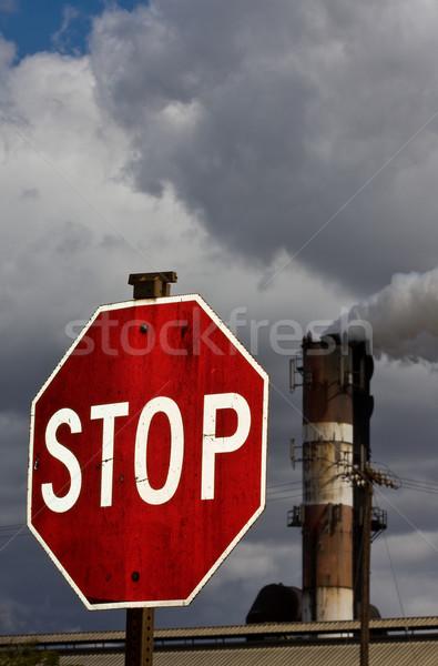 Stop pollution Stock photo © ShawnHempel