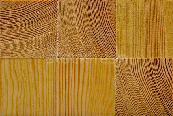 Grain de bois bois blocs Photo stock © ShawnHempel