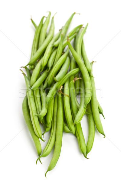 Organiczny słup fasola zielone biały Zdjęcia stock © ShawnHempel
