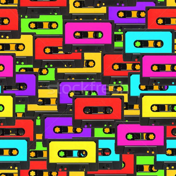 Seamless audio tape background Stock photo © ShawnHempel