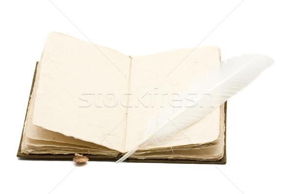 Vintage notebooka biuro książki szkoły Zdjęcia stock © ShawnHempel