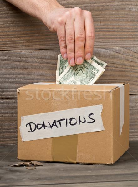 男 お金 寄付 ドル ストックフォト © ShawnHempel