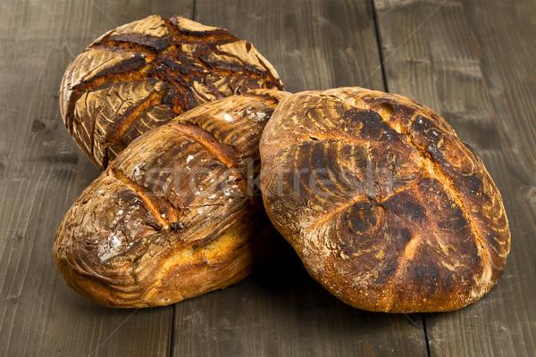 стороны хлеб деревянный стол домашний различный древесины Сток-фото © ShawnHempel