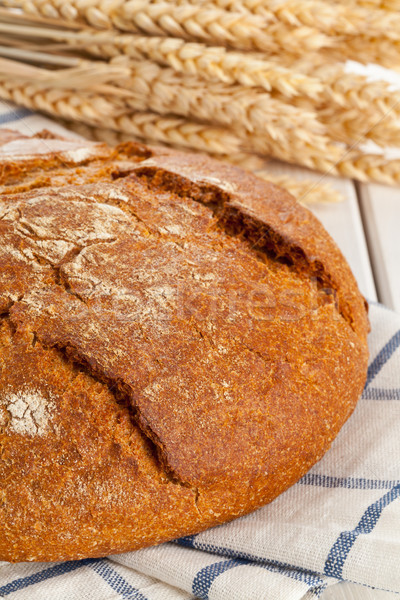 Pan pan todo frescos trigo orejas Foto stock © ShawnHempel