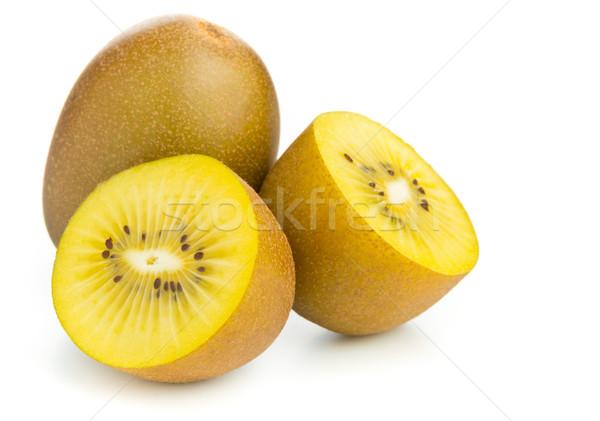 Dourado kiwi cortar inteiro comida fruto Foto stock © ShawnHempel