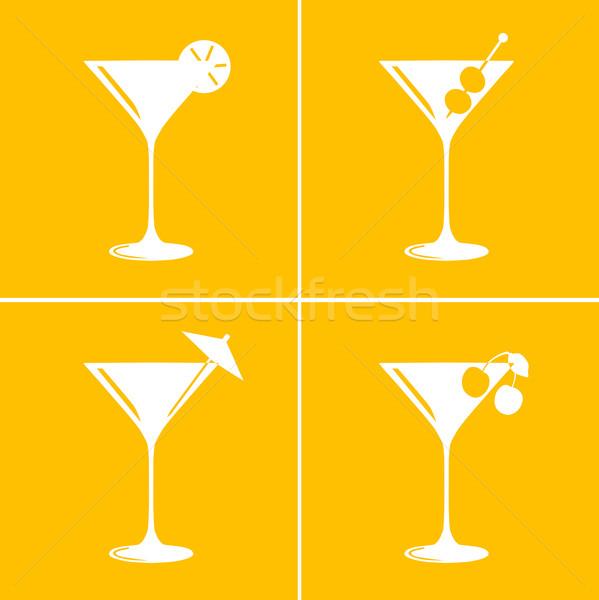 Martini cocktail verres vintage différent Photo stock © ShawnHempel