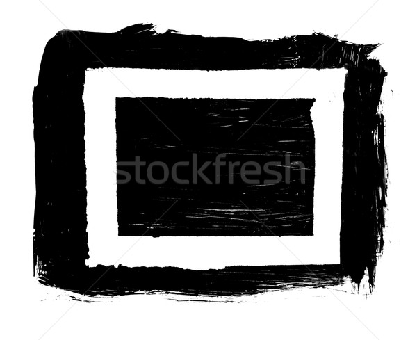 Sale taché peinture grunge rectangle cadre Photo stock © ShawnHempel