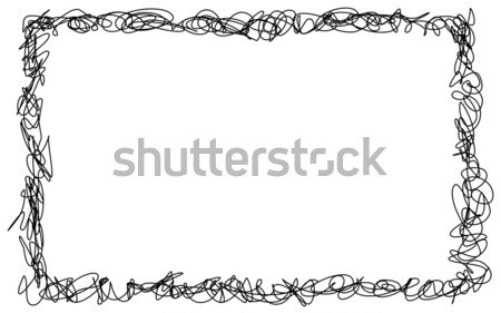 Abstract hand drawn scribble doodle frame Stock photo © ShawnHempel