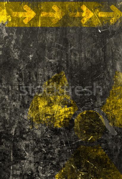 Starych grunge czarny metal tablicy promieniowanie Zdjęcia stock © ShawnHempel