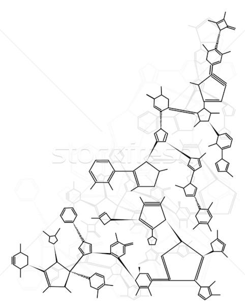 Chimica formula abstract isolato bianco Foto d'archivio © ShawnHempel