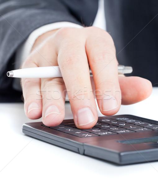 Költségvetést készít üzlet pénzügy férfi költségvetés számok Stock fotó © ShawnHempel