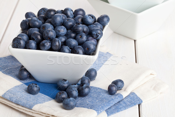 Blueberries in bowl Stock photo © ShawnHempel