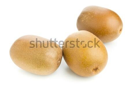 Three whole golden kiwifruit/ kiwi Stock photo © ShawnHempel