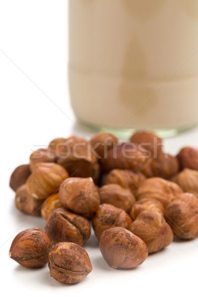 Hazelnut kernels with hazelnut milk Stock photo © ShawnHempel