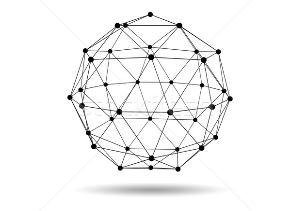 Abstract three dimensional network concept wireframe sphere Stock photo © ShawnHempel