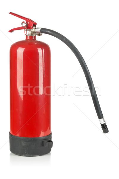 Yangın söndürücü beyaz kırmızı yangın sanayi güvenlik Stok fotoğraf © ShawnHempel