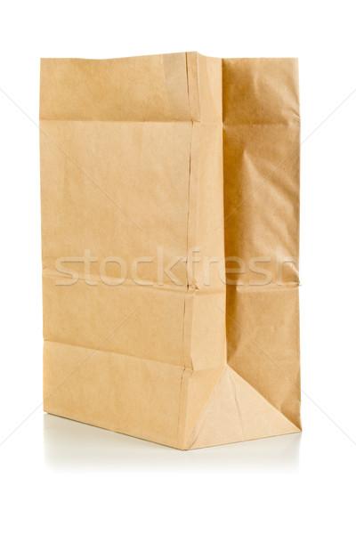грубая оберточная бумага сумку белый чистой бумаги Сток-фото © ShawnHempel
