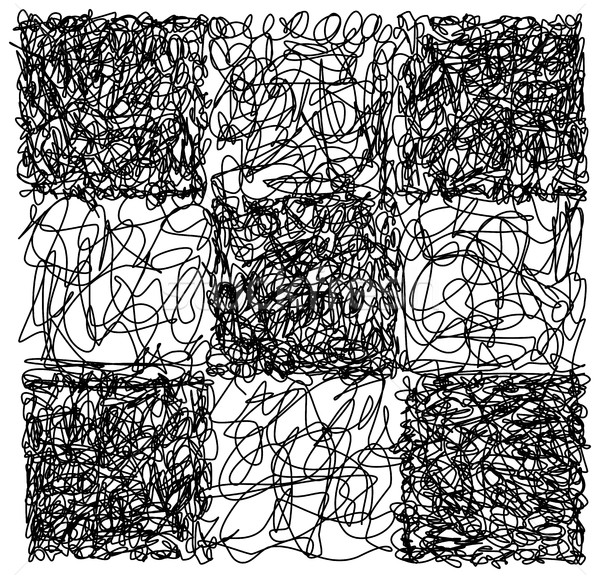 Abstract hand drawn scribble doodle checkerboard chaos pattern t Stock photo © ShawnHempel