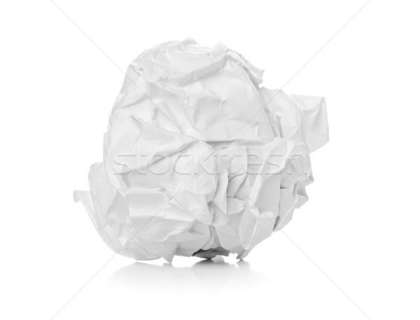 Crumbled white paper ball on white background Stock photo © ShawnHempel