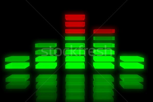 музыку эквалайзер фон звук отражение черный Сток-фото © ShawnHempel