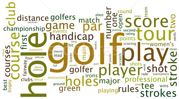 Golf címke felhő sportok szófelhő címkék Stock fotó © ShawnHempel