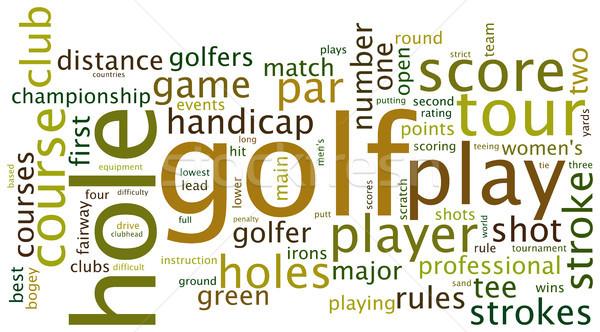 Golf tag cloud Stock photo © ShawnHempel