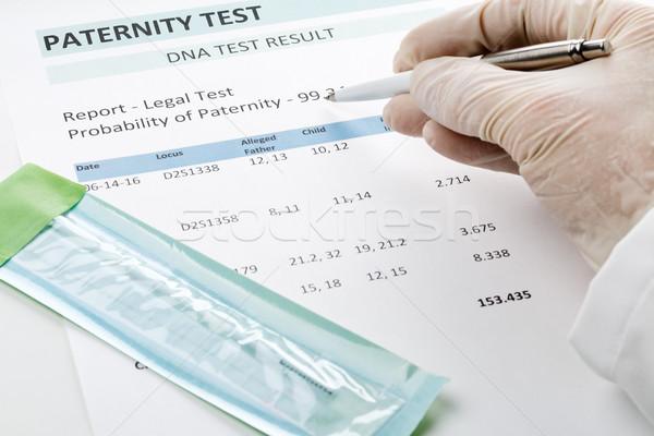 Médico puntos resultado paternidad prueba forma Foto stock © ShawnHempel