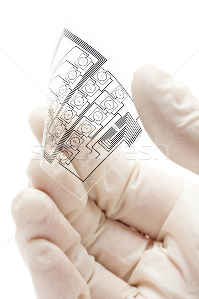 Flexible printed electric circuit Stock photo © ShawnHempel