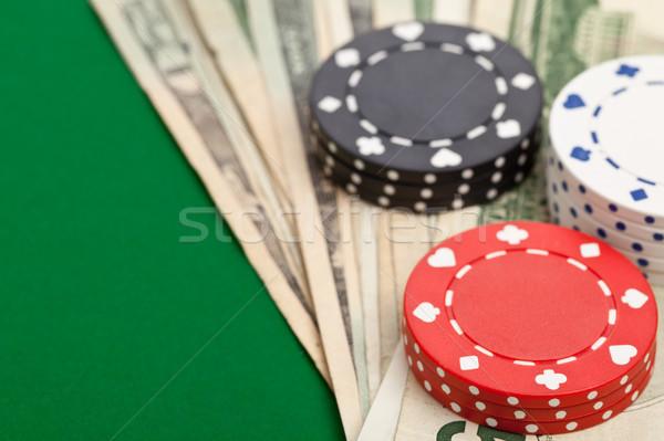 наличных покер фишки казино таблице зеленый Сток-фото © ShawnHempel