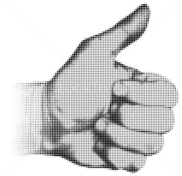 Retro halftone textured hand thumb up Stock photo © ShawnHempel