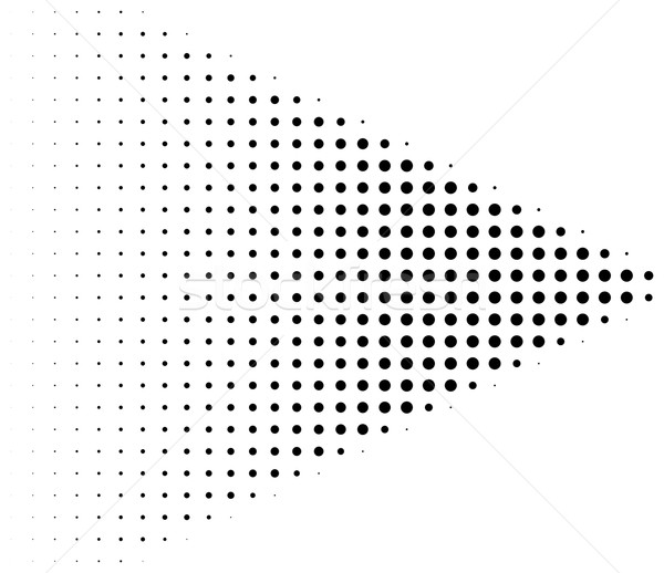 Black halftone dots arrow shape Stock photo © ShawnHempel