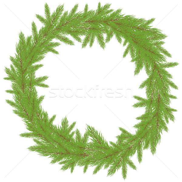 Рождества венок зеленый дерево природы фон Сток-фото © shekoru