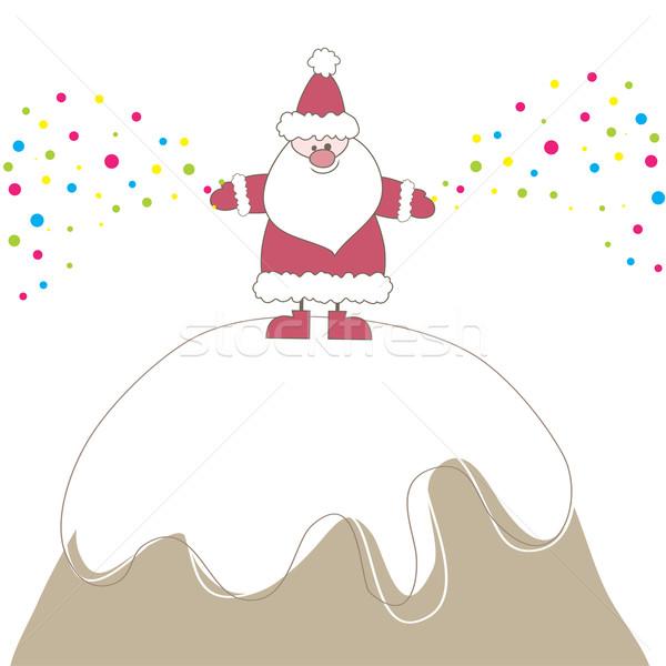 рождественская елка снега фон пространстве Сток-фото © shekoru