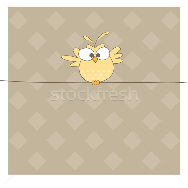 совы веревку один дерево ребенка весело Сток-фото © shekoru