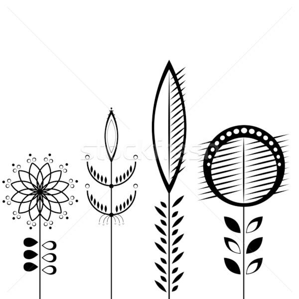 Klasszikus pasztell virágok vektor virág természet Stock fotó © shekoru