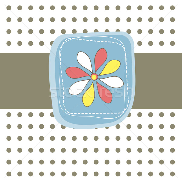 Simple card with flower. Vector illustration Stock photo © shekoru