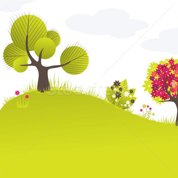 Abstrato árvore flores flor globo Foto stock © shekoru