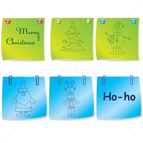 Set of colorful note paper.Vector illustration Stock photo © shekoru