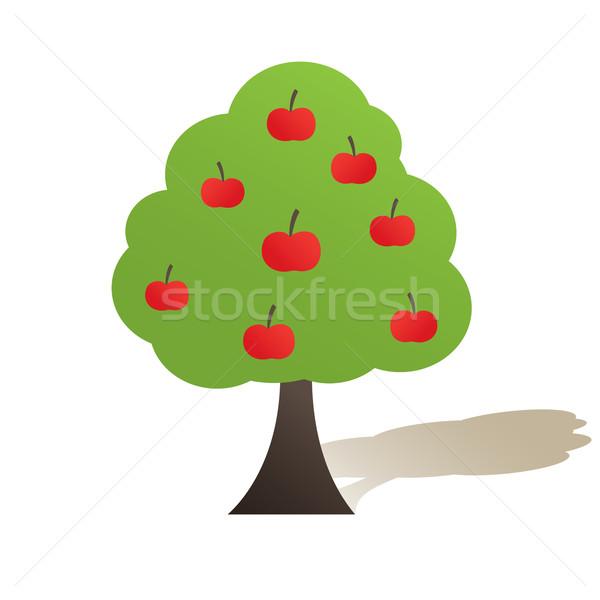 Elma soyut kırmızı elma orman doğa Stok fotoğraf © shekoru