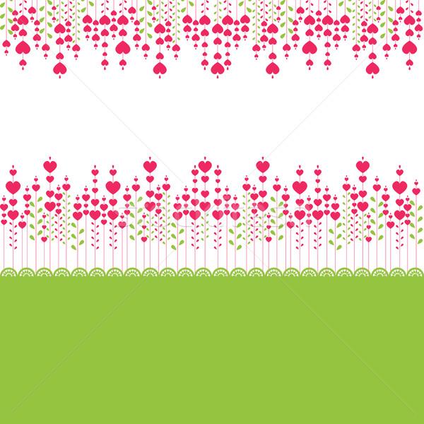 Pembe kalp bilgisayar çiçekler doğa Stok fotoğraf © shekoru