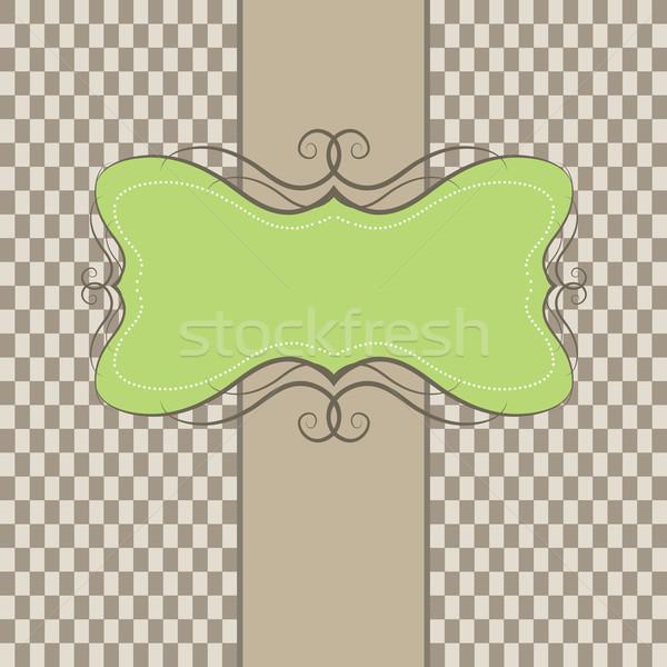 шаблон кадр дизайна Пасху весны Сток-фото © shekoru