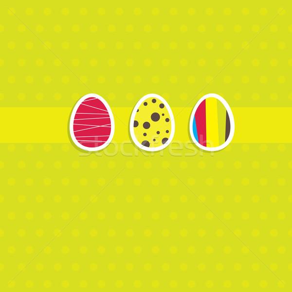 Пасху карт яйцо кролик веб зеленый Сток-фото © shekoru