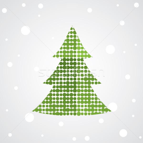рождественская елка красочный украшение дерево аннотация Живопись Сток-фото © shekoru
