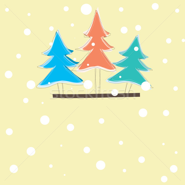 Ağaç renk soyut dizayn boya Stok fotoğraf © shekoru