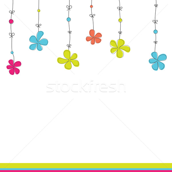 Stock photo: Background with flowers. Vector illustration