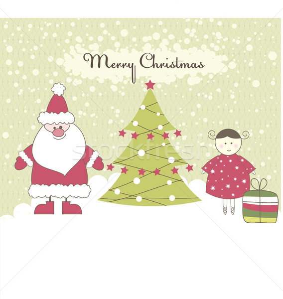 Cartão menina caixas de presente bebê Foto stock © shekoru