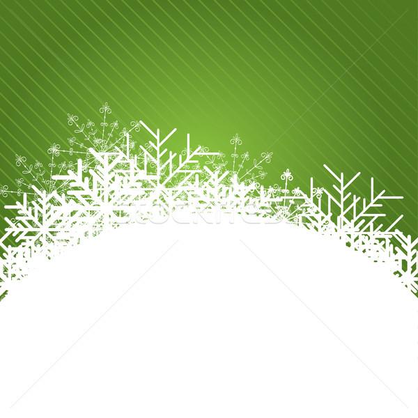 Рождества синий аннотация звезды зима Сток-фото © shekoru
