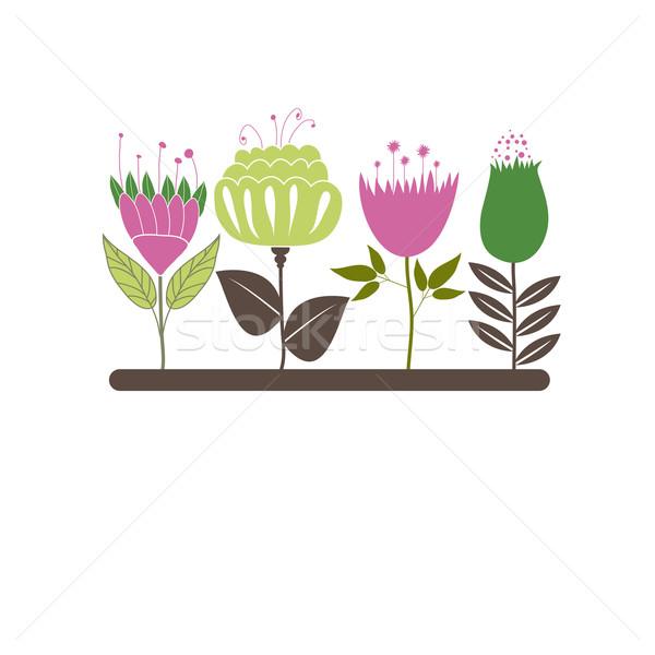 Flores primavera projeto pintar arte verão Foto stock © shekoru