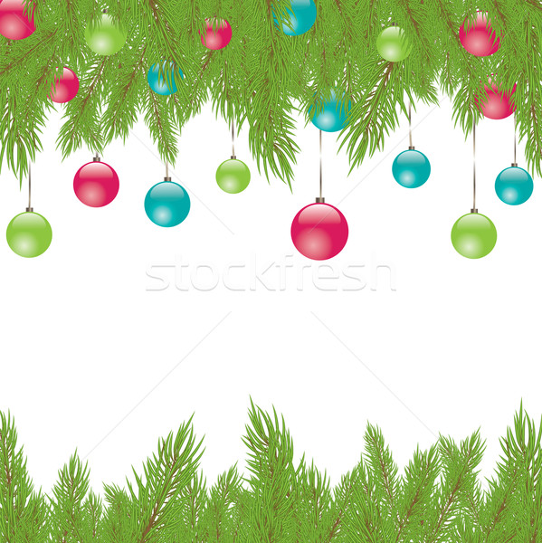 Christmas Fur-tree. Vector illustration Stock photo © shekoru