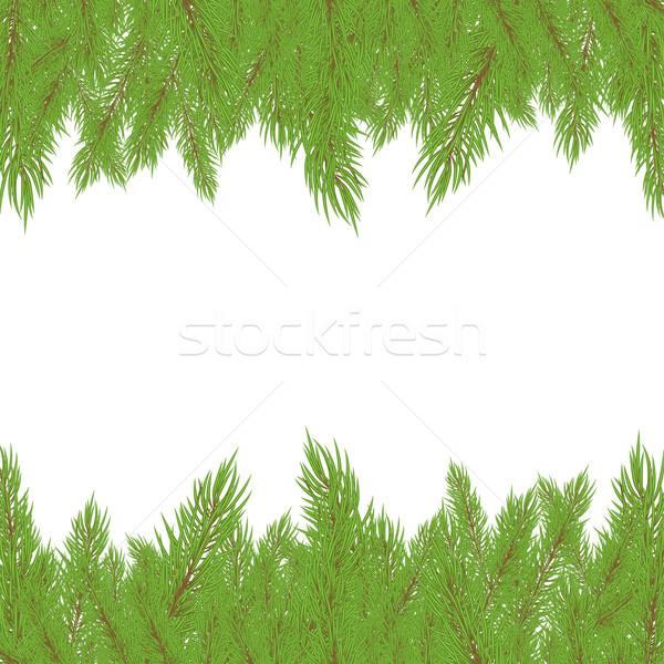 Natal verde árvore natureza fundo arte Foto stock © shekoru